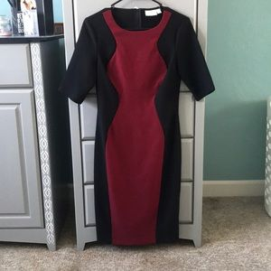 black and red slimming dress